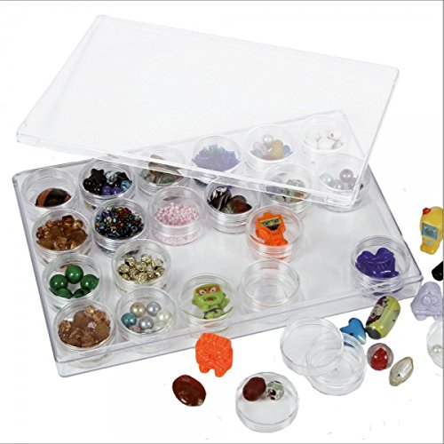 Mineral Display Case with 24 round vials (Rock Display Box compare prices)