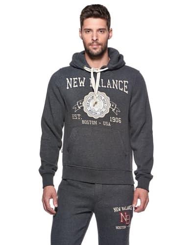 New Balance Felpa Hood Sweat Heritage [Blu]