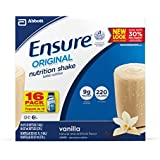 Ensure Regular Nutrition Shake, Vanilla, 8-Ounce, 16 Count