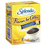 Johnson and Johnson Splenda No Calorie Sweetener, Flavor Blends for Coffee, French Vanilla, 30 sticks per box -- 6 boxes per case