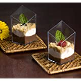 Small Wonders 2.5 Oz Clear Plastic Slanted Cube Mini Dish 10ct.