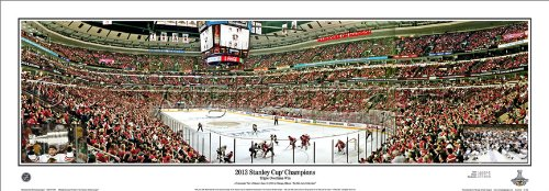 NHL Hockey Chicago Blackhawks 2013 Stanley Cup Final Game 1 Triple Overtime Win - 13.5x39 Unframed Panoramic Poster #4038
