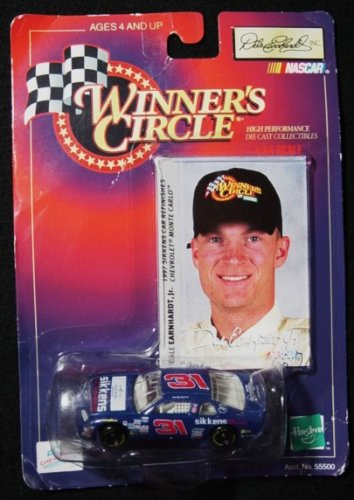 Winner's Circle Dale Earnhardt Jr. Blue #31 Sikken's 1/64 Scale Stock Car Series Diecast and Collector's Trading Card - 1