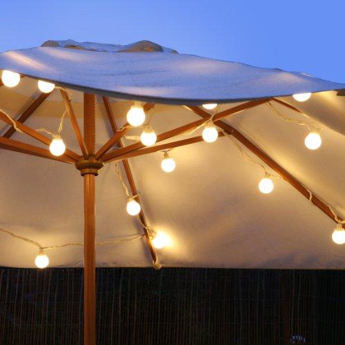 guirlande guinguette ext rieure raccordable avec 20 globes led blanc chaud sur c ble blanc. Black Bedroom Furniture Sets. Home Design Ideas