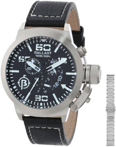 Ballast Men's BL-3101-01 Trafalgar Analog Display Swiss Quartz Black Watch