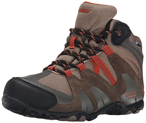 Hi-Tec Aitana Mid Waterprool JR Hiking Shoe (Toddler/Little Kid/Big Kid), Smokey Brown/Taupe/Red Rock, 6 M US Big Kid