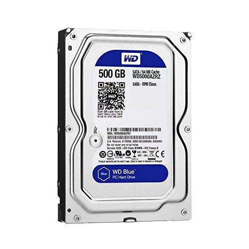 【Amazon.co.jp限定】WD 内蔵HDD Blue 500GB 3.5inch SATA3.0 64MB 5400回転 2年保証 WD5000AZRZ/AFP