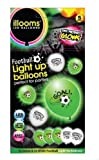 LED Light Up iLLoom Balloons - 5pk FOOTBALL GLOW IN THE DARK