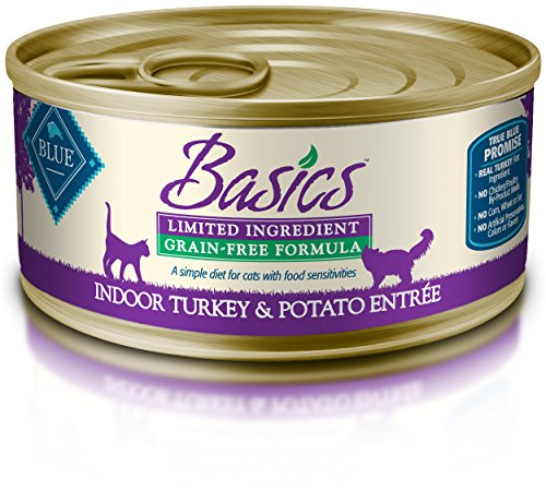 BLUE Buffalo Basics Grain-Free Indoor Turkey & Potato Entrée For Adult Cats