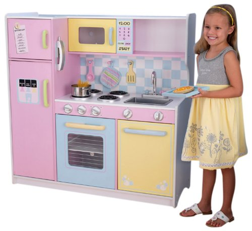 Kidkraft Large Pastel Kitchen 53181 Activity Playset (Multi-colour)
