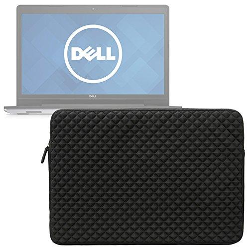 Evecase Dell Inspiron 17 5000 Series 17.3inch Laptop Sleeve, Portable Slim Diamond Neoprene Foam Splash & Shock Resistant Travel Carrying Case - Black
