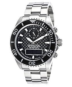 Invicta Men's 13722 Pro Diver Analog-Digital Display Swiss Quartz Silver Watch