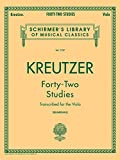 42 Studies: Transcribed for Viola (Schirmers Library of Musical Classics, Volume 1737)