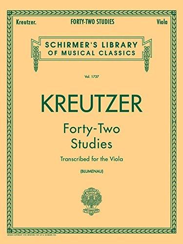 42 Studies (Schirmer's Library of Musical Classics, Volume 1737)