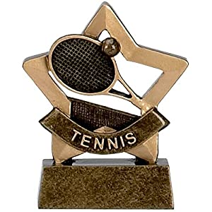 """3.25"""" Mini Star Tennis Trophy with FREE engraving upto 30 letters A954 from Glenway"""