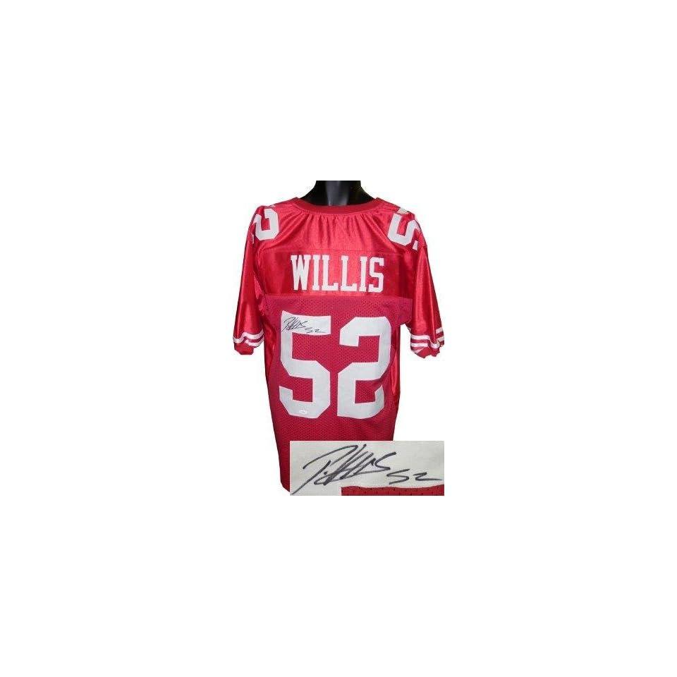 Patrick Willis Autographed Uniform   Red Prostyle JSA Hologram   Autographed NFL Jerseys