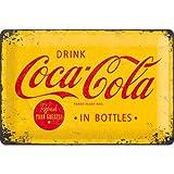 Tin Sign 20 x 30 cm - Coca Cola - Logo Yellow