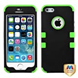 MYBAT Rubberized TUFF Hybrid Phone Protector Package - Retail Packaging - Black/Electric Green