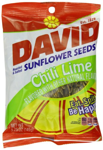 David Chili Lime Sunflower Seeds, 5.25-Ounce (Pack Of 12)