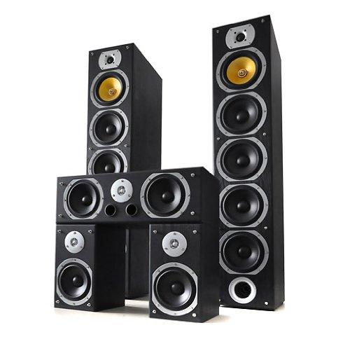 Beng V9B Sistema diffusori 5.1 home theatre Hi-Fi (1240 Watt max, 5 altoparlanti, Bass reflex) color nero