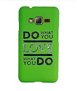 KolorEdge Back Cover For Samsung Z1 - Green (1412-Ke15087SamZ1Green3D)