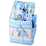 Big Oshi Baby Essentials 16 Piece Diaper Bag Feeding Gift Set - Blue