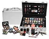 BriConti Schminkkoffer 'Everybody's Darling', Koffer im Alu-Design mit 51 teiligem Schmink- / Make-Up Set