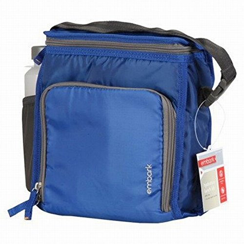 Embark Blue Soft Lunch Box & Water Bottle Insulated Lunch Bag Lunchbox