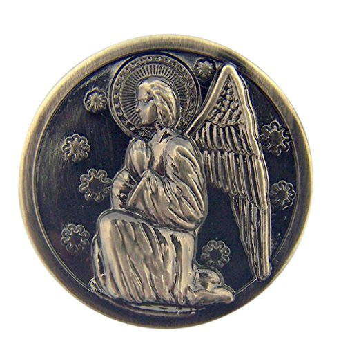 Guardian Angel Pocket Token with Psalms 91:11 Scripture, 1 1/8 Inch