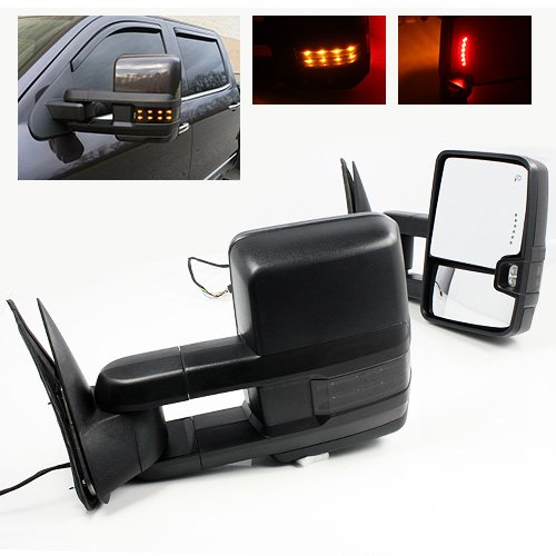 Review ModifyStreet Power Side Towing Mirrors with Smoke Lens Turn Signal and Heated Defrost and Cle...