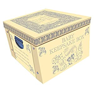 Yellow My Baby Keepsake Box A Lifetime Of Memories Large Collapsible Storage Box from Robert Frederick