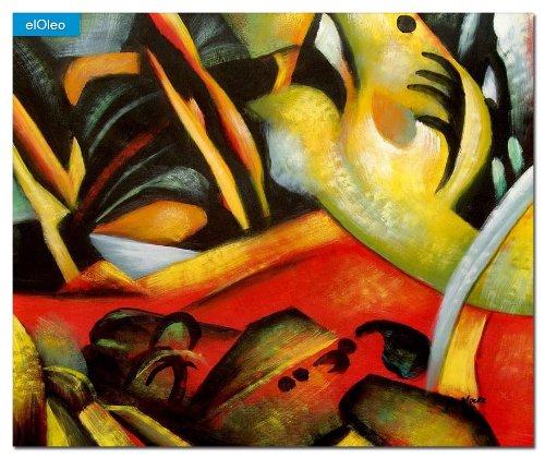 elOleo August Macke – Der Sturmes 50×60 Gemälde auf Leinwand handgemalt 83193A jetzt kaufen