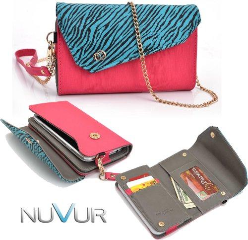 zebra-aqua-blue-hot-pink-safari-link-htc-evo-4g-lte-phone-holder-wirstlet-wallet-case-nuvur-tm-key-c