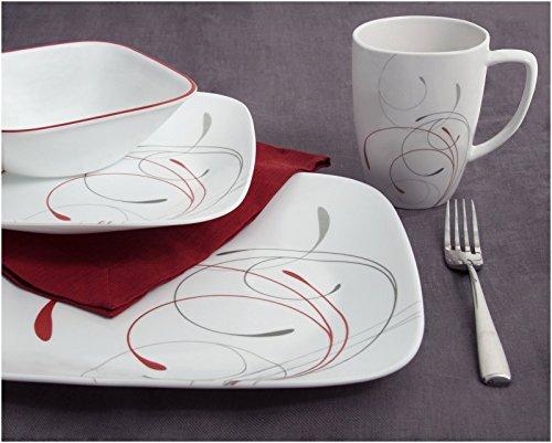 USA Corelle Squares Dinnerware Set Splendor 11street Malaysia Dinnerware