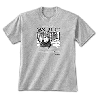 Advice From A Wolf ~ Sports Grey T-Shirt Small