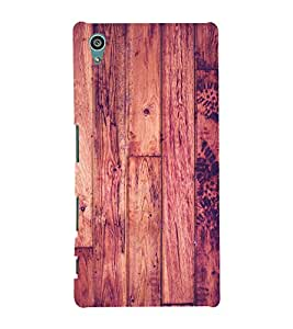 Polish Wood Pattern 3D Hard Polycarbonate Designer Back Case Cover for Sony Xperia Z5 :: Sony Xperia Z5 Dual (5.2 Inches)