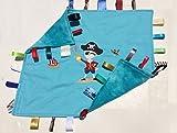Yo Ho Ho ~ Pirate Cuddle Blanket with Ribbon Tabs