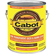 Cabot Semi-Transparent Oil-Based Deck & Siding Exterior Stain-CORD BROWN S/T STA