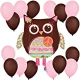 1 X Hippie Chick Owl Balloon Kit