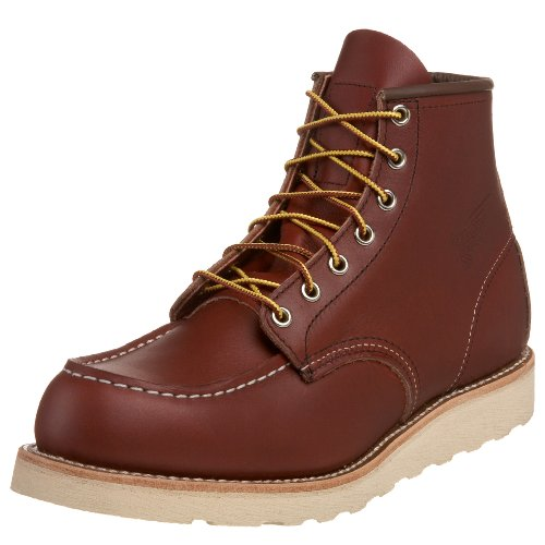 Red Wing Shoes Oro Russet Marrone Classic Trac Tred Wedge Boots-UK 9