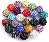 Pave Shine 10Mm Beads Mixed Colors Easy Use For Jewelry Making Design Diy (10 Beads Per Lots)