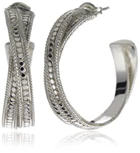 "Anna Beck Designs ""Timor"" Sterling Silver Small Twisted Hoop Earrings"