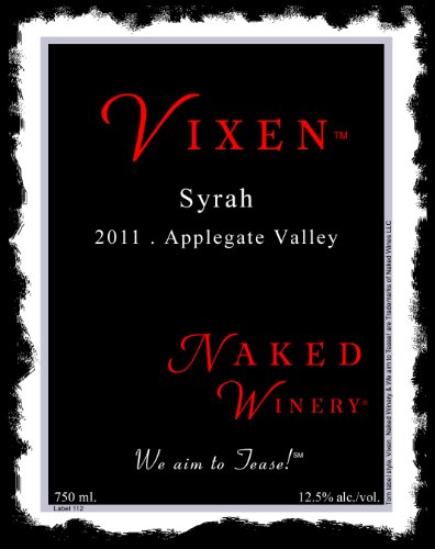 2011 Naked Winery Vixen Syrah 750 Ml