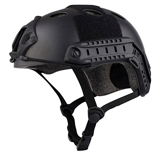 Airsoft Tactical SWAT Helmet Combat Fast Helmet with Protective (Black) (Carbon Tactical Helmet compare prices)