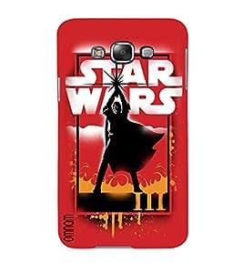 Omnam Star Wars Effect Printed Designer Back Cover Case For Samsung Galaxy E5