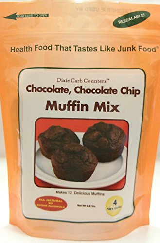 Dixie Carb Counters Chocolate, Chocolate Chip Muffin Mix - 6.8 oz by Dixie Carb Counters (Carb Counters Muffin Mix compare prices)