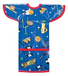 AM PM Kids! Sleeved Toddler Laminated Bib, Sports by AM PM Kids!