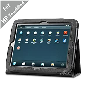 Acase (TM) HP TouchPad Transformer Leather EZ Carry Case with 3 in 1 built in Stand for HP TouchPad 9/7-Inch WebOS Tablet Wi-Fi 16GB, 32GB (BLACK)