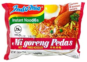 Indomie Instant Fried Noodles Spicy/Hot for 1 Case (30) from Indomie