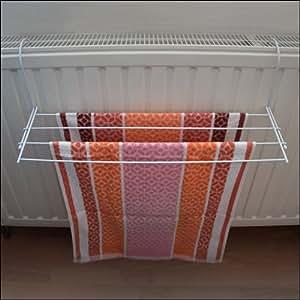 s choir linge porte serviettes pour radiateur 59 cm cuisine maison. Black Bedroom Furniture Sets. Home Design Ideas